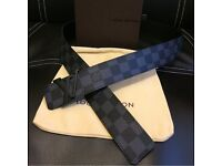 Louis Vuitton black belt mens brand new with accessories
