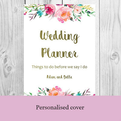 Printable Wedding Planner - Planning Kit and Checklists with Personalised - Wedding Planner Printable