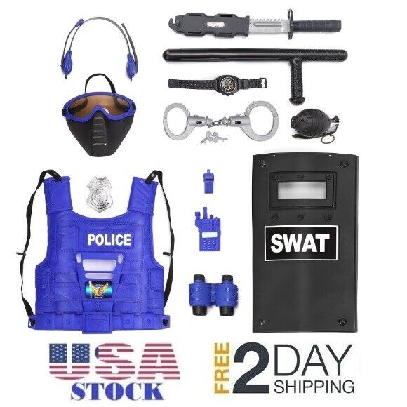 Liberty Imports Kids Police Role Play Toy Kit | 15-Piece