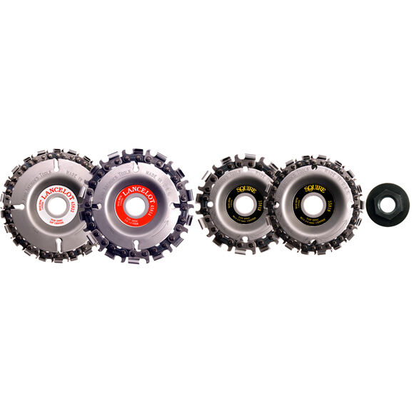 KING ARTHUR,S TOOLS ALL SAW CHAIN DISC  STARTER KIT PLUS UNIVERSAL NUT #20057-A