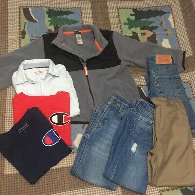 Boys 5T Clothing Bundle Lot Box 8 Piece Levi's Okie Dokie H&M Champion B19