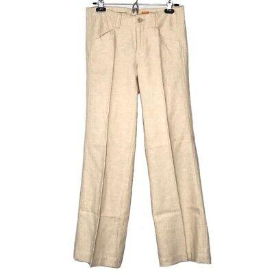 Anthropologie Pilcro & the Letterpress Womens Cream wide leg pants Linen - 4