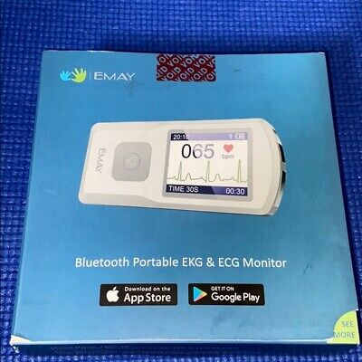 Emay Bluetooth Portable Ekg Ecg Monitor Emg-20 New In Open Box