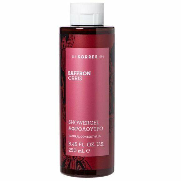 Korres Saffron Orris Shower Gel Body Wash Cleanser 8.45oz / 250mL Full Size NEW