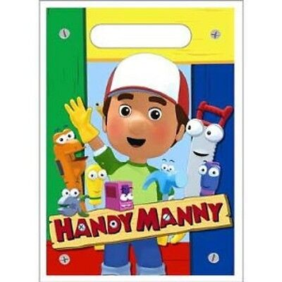 HANDY MANNY  ~ (8)  Loot Bags Favor Treat Sacks ~ Birthday Party Supplies