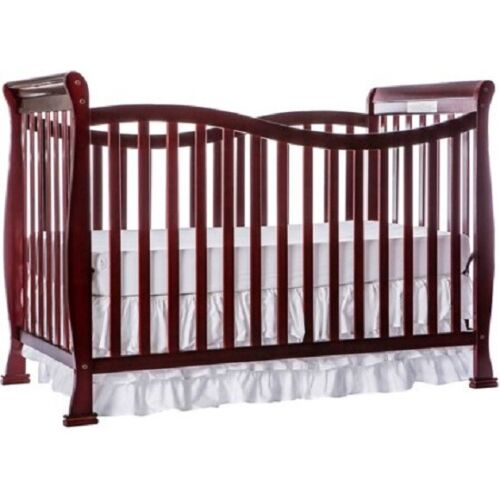 DREAM ON ME VIOLET 7-IN-1 CONVERTIBLE CRIB, CHERRY *DISTRESSED PKG