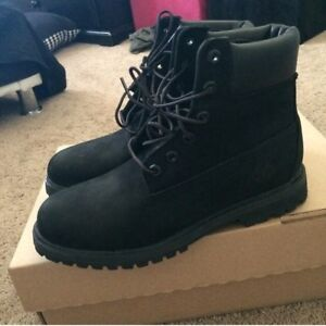 Timberland Black Boots Boys Size 3
