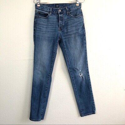 GAP Women Size 24 Best Girlfriend Jeans Slim Leg Distressed High Waisted