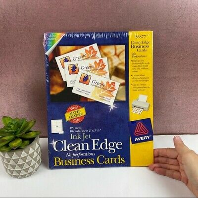 Avery Ink Jet Clean Edge Business Cards New In Package
