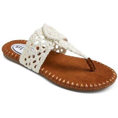 Stevies Girls' #adorableknits Crochet Flip Flop Sandals - Ivory NWT - Ivory Girls Sandals