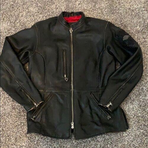⭐Harley-Davidson  MOTORCYCLE Leather HD Riding Jacket Women's Medium⭐