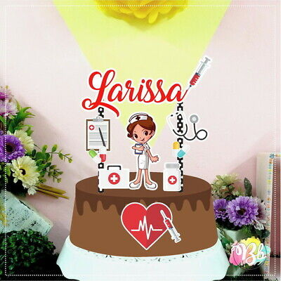 Nurse Party Favors (Personalized Nurse Doctor Medical Cake Topper Party)
