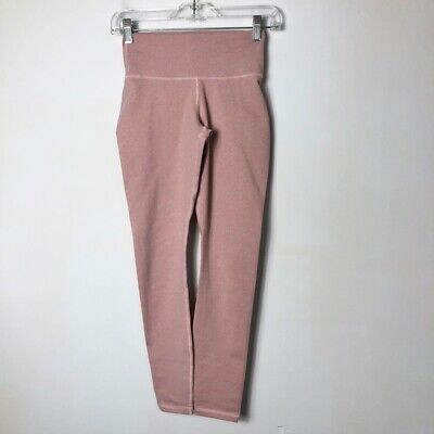 Fabletics Womens Powerhold High Waist Heather Pink 7/8 Leggings Size Extra Small