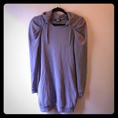 ASOS Puffed Sleeve Hoodie Lounge Sweat Dress  Purple UK 8/ US 4/ EUR 36 - Puffed Sleeve Hoodie