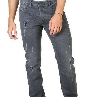 Diesel Larkee Men's Jeans Regular Straight R95X8 Distressed Gray Color W34 L32