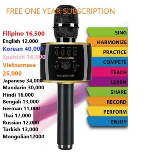 Magic Sing Bluetooth Karaoke Mic Speaker English Tagalog n more 1Year 220K song