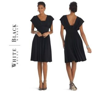 White House Black Market Convertible Bridesmaid Dress (Navy)