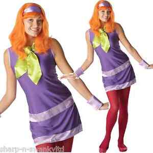 Ladies-Sexy-Daphne-Scooby-Doo-Wig-60s-70s-160s-TV-Fancy-Dress-Costume-Outfit