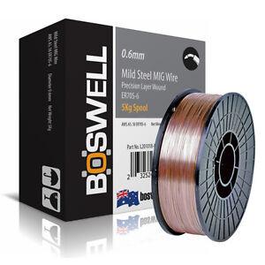 Boswell - 0.6mm x 5KG Mild Steel ER70S-6 MIG WELDING WIRE - Welder Wires