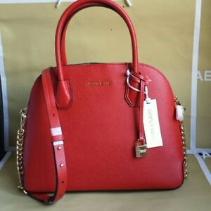 BRAND NEW!!!!! Michael Kors Saffiano Leather Red Satchel