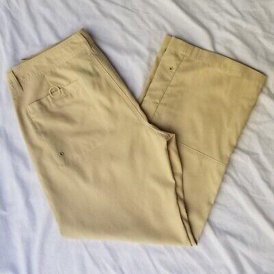 Athleta Capris Tan Beige Cropped Athletic Pants Womens Size 4 Drawstring