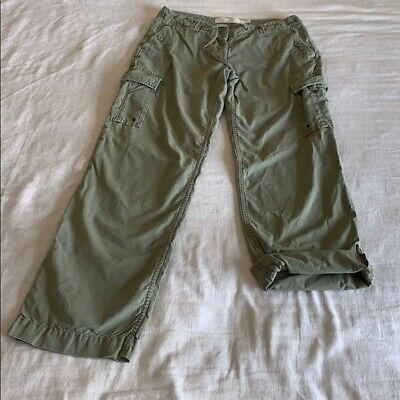 J Crew City Fit Cargo Roll Up Pants 0