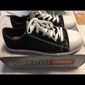 BRAND NEW never worn, Dakota Converse-type steel toe shoes
