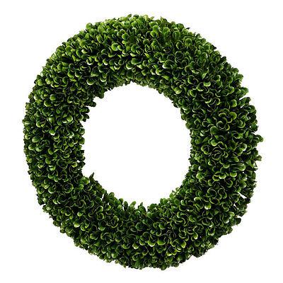 Fake Boxwood Wreath (Faux Boxwood Round Wreath D16