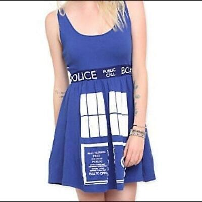 Tardis Halloween Costume (Doctor Who Her Universe TARDIS Costume Dress HOT TOPIC Small S Halloween)