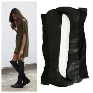 Chinese Laundry thigh high leather boots