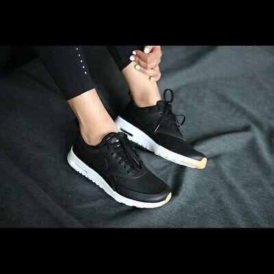 Nike Air Max Thea Premium Black/White UK Size 3.5 616723 017