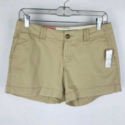 Old Navy Women Size 6 Stretch Mid Rise Shorts Tan NWT