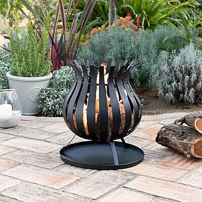 🔥Beautiful Spectacular Bulb Fire Pit Basket Log Burner Chimenea FREE Delivery🚚