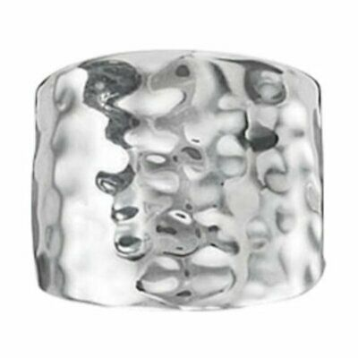 NEW PREMIER DESIGNS SILVER REFLECTIONS RING HAMMERED STYLE