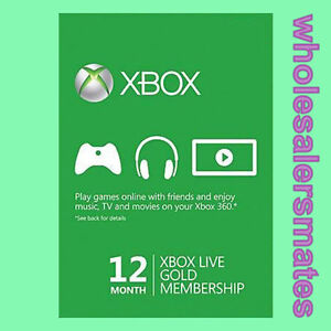 12 Month Xbox Live 1 year Gold Membership Card for 360 or One AU -FAST DISPATCH