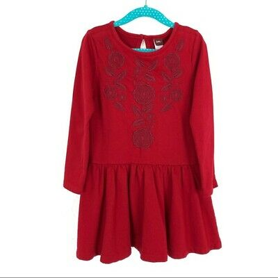 Tea Girl's Dress Size 5 Embroidered Long Sleeve