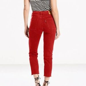NEW WITH TAGS Levi's Sz 27 Red Wedgie Icon Jeans