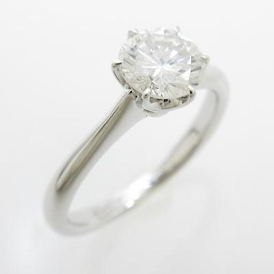 Authentic Platinum Diamond ring 0.657ct I SI2 GOOD  #270-002-438-4084