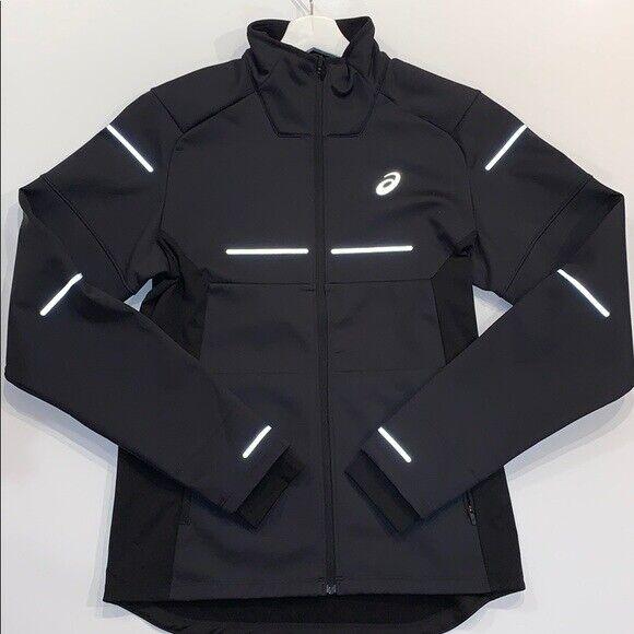 ASICS Men Lite-Show Jacket Winter Coat Black Clothes Size XL