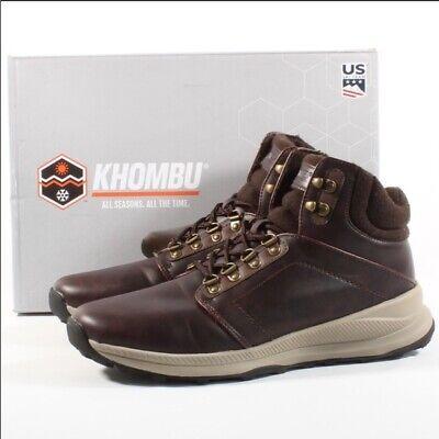 Mens Khombu Leather Waterproof Hiking Walking Outdoor Boots All Season UK SIZE 9