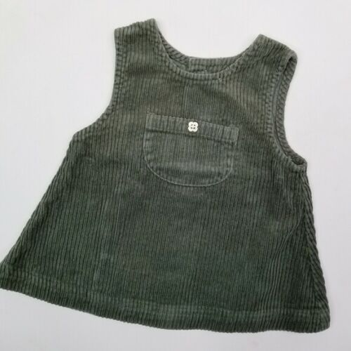 L.L. Bean corduroy vintage 90s pinafore dress 6 months green
