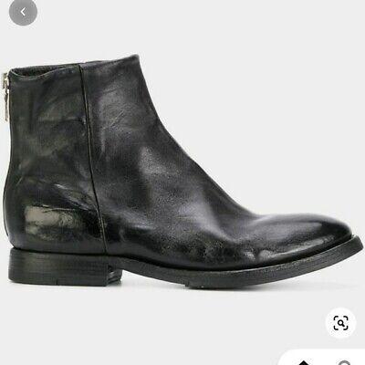 SARTORI GOLD Block Heel Leather Ankle Boots back zip up at heel Black sz 8