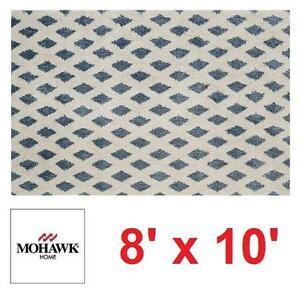 NEW* MOHAWK HOME ADONA RUG BLUE WHITE AREA RUGS CARPET CARPETS FLOORING DECOR ACCENTS MAT PAD MATS PADS 109536099