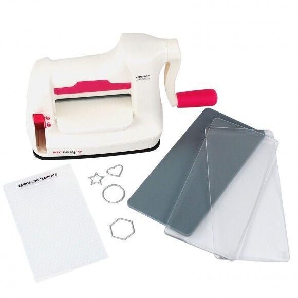 Stanzmaschine Prägemaschine STARTER KIT mit Stanzplatten und Prägeplatte