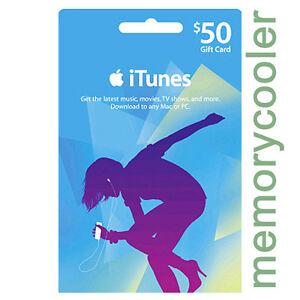 iTUNES $50 GIFT CERTIFICATE CARD Karte 50 USD APPLE iPhone iPod iPad Key Code US