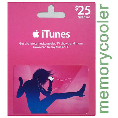 iTUNES $25 GIFT CERTIFICATE CARD Karte 25 USD APPLE iPhone iPod iPad Key Code US