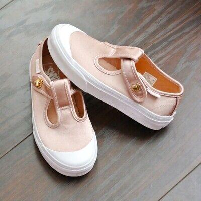 Vans LEENA Satin Blush Kids Shoes 3 Blush Satin Schuhe