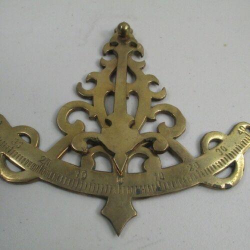 Brass Listing gauge nautical decor replica wall art