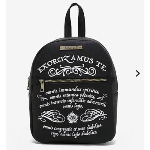 Bioworld Supernatural Anti Possession Mini Backpack. NWT.