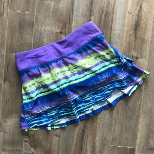 Ivivva set the pace ruffle tie dye skort skirt size 12